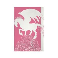 Pegasus Rose Pink Shadow Rectangle Magnet (100 pac