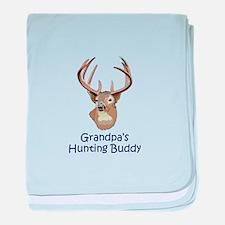 GRANDPAS HUNTING BUDDY baby blanket
