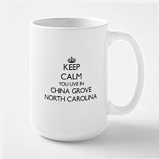 Keep calm you live in China Grove North Carol Mugs