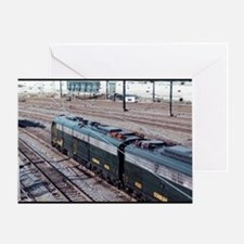 Conrail Office Car Train Greeting Card