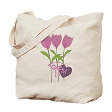 Custom Romantic Pink Tulips Season Tote Bag