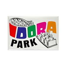 Idora Park Color Rollercoaster Rectangle Magnet