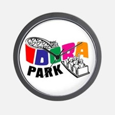Idora Park Color Rollercoaster Wall Clock