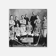 "Vintage Montreal Hockey Tea Square Sticker 3"" x 3"""