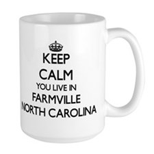 Keep calm you live in Farmville North C Mugs