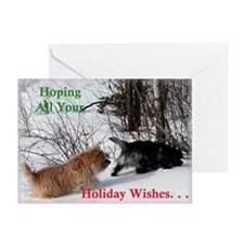 Snowy Cairn Pursuit Greeting Cards (Pk of 20)