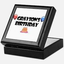 Grayson's Birthday Keepsake Box