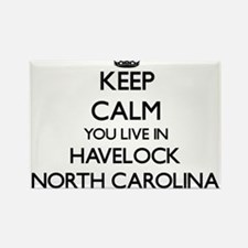 Keep calm you live in Havelock North Carol Magnets