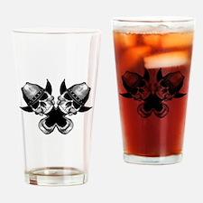 Cowboy Skulls Drinking Glass
