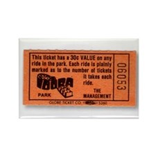 Idora Park Ticket Rectangle Magnet