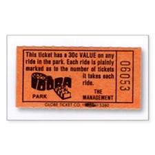 Idora Park Ticket Rectangle Decal