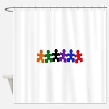 AUTISM PUZZLE PIECES Shower Curtain