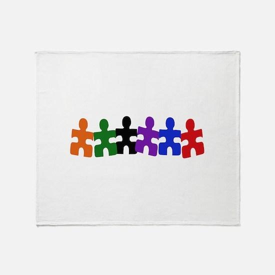 AUTISM PUZZLE PIECES Throw Blanket