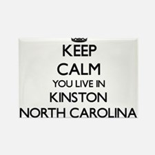 Keep calm you live in Kinston North Caroli Magnets
