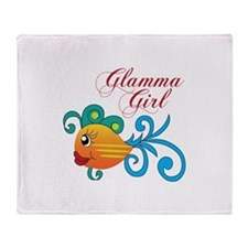 GLAMMA GIRL FISH Throw Blanket