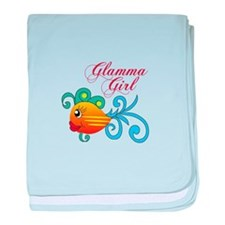 GLAMMA GIRL FISH baby blanket