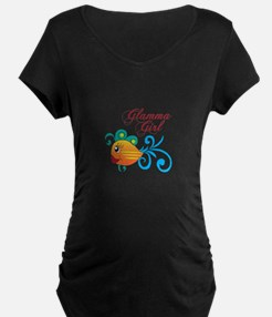 GLAMMA GIRL FISH Maternity T-Shirt