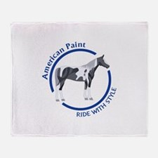 AMERICAN PAINT HORSE Throw Blanket
