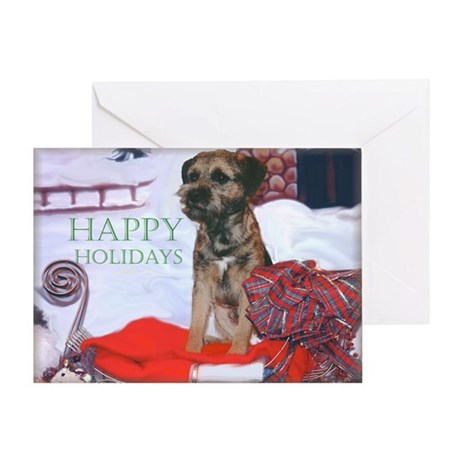 Border Terrier Holiday Greeting Card