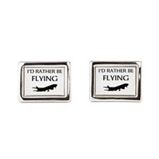 Rather Be Flying1 Rectangular Cufflinks