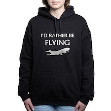Rather Be Flying1 Women's Hooded Sweatshirt