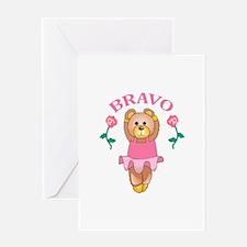 BRAVO BALLET DANCER Greeting Cards