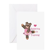 BALLERINA IN TRAINING Greeting Cards