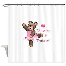 BALLERINA IN TRAINING Shower Curtain