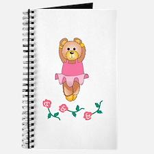 BALLERINA BEAR WITH ROSES Journal