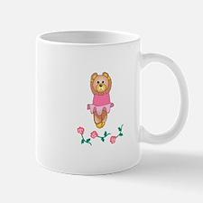 BALLERINA BEAR WITH ROSES Mugs