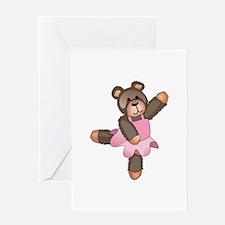 TEDDY BEAR BALLERINA Greeting Cards