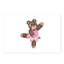 TEDDY BEAR BALLERINA Postcards (Package of 8)