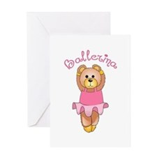 BALLERINA BEAR Greeting Cards