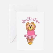 BALLERINA BEAR Greeting Cards