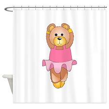 TEDDY BEAR BALLERINA Shower Curtain