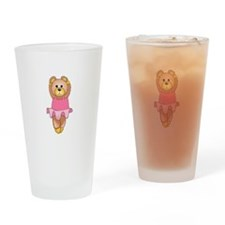 TEDDY BEAR BALLERINA Drinking Glass