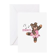 DANCE BALLET TEDDY Greeting Cards