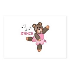 DANCE BALLET TEDDY Postcards (Package of 8)