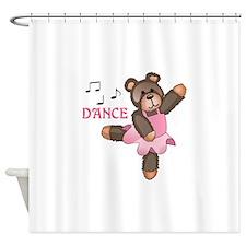 DANCE BALLET TEDDY Shower Curtain