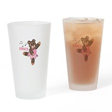 DANCE BALLET TEDDY Drinking Glass