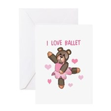 I LOVE BALLET Greeting Cards