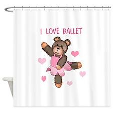 I LOVE BALLET Shower Curtain