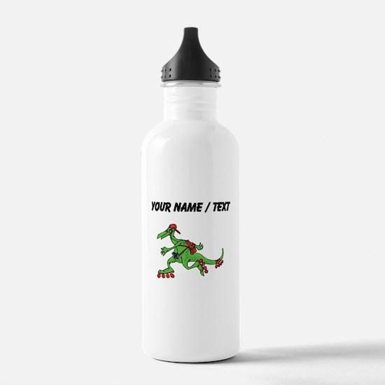 Custom Dinosaur Roller Skating Water Bottle