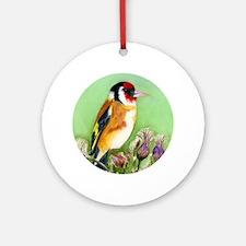 Goldfinch Bird Watercolour Ornament (Round)