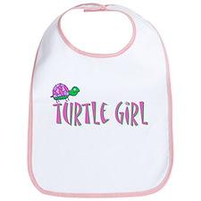 Turtle Girl Bib