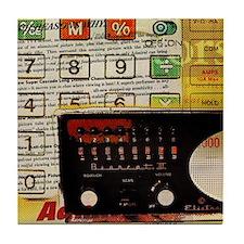 retro geeky electronics Tile Coaster