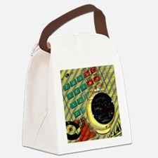 retro geeky electronics Canvas Lunch Bag