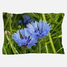 blue summer cornflower Pillow Case