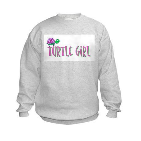 Turtle Girl Kids Sweatshirt