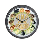 Time For Poultry2 Wall Clock